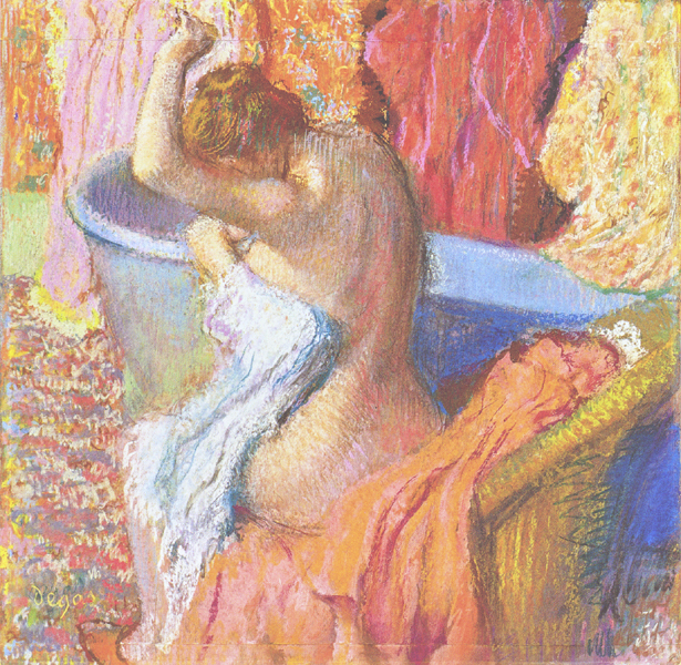 Edgar Degas - Bather Drying Herself or After the Bath