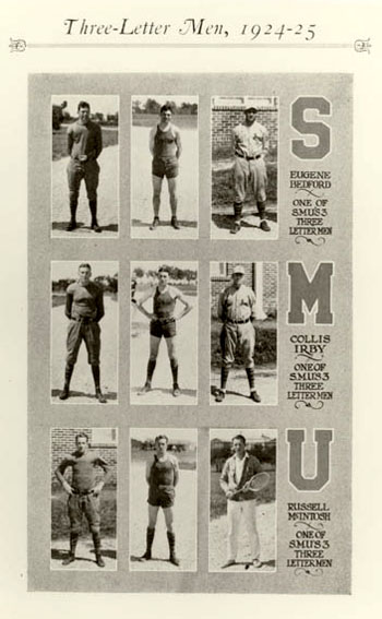 SMU's Three-Letter Men, 1924-25