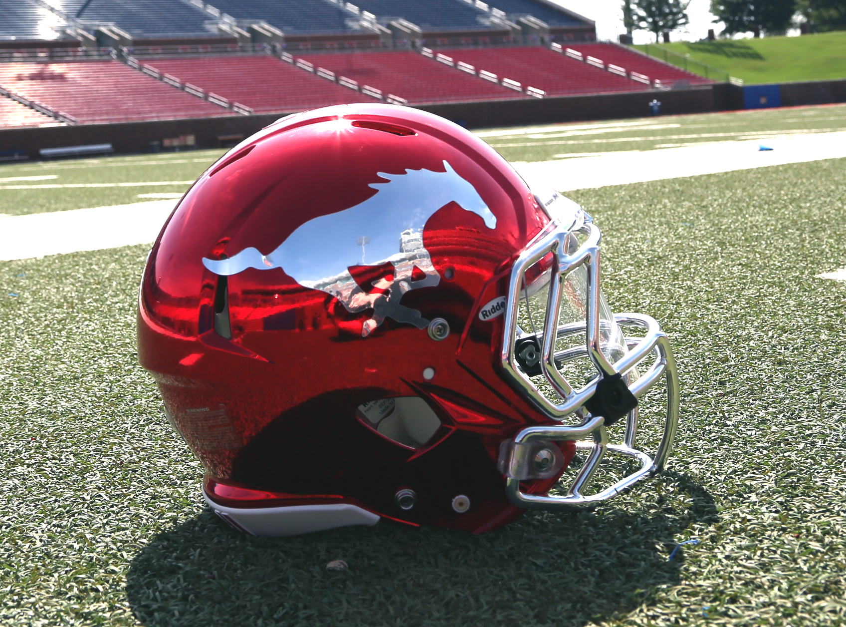 SMU Mustang Football Helmet