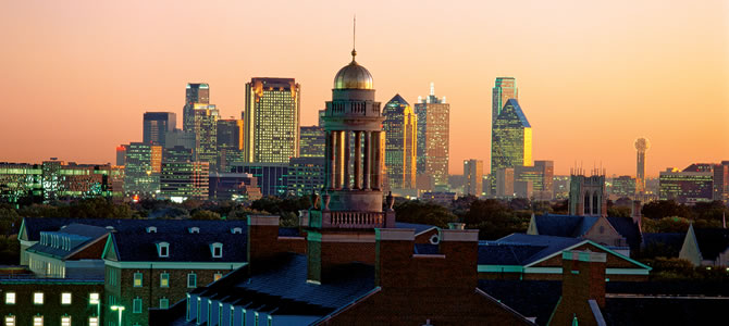 Dallas Skyline with SMU