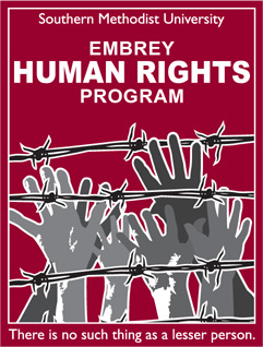 SMU's Embrey Human Rights Program graphic