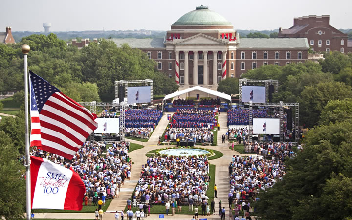 Commencement on the Main Quad