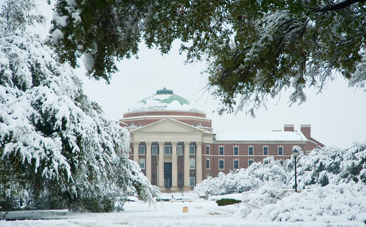 Dallas Hall, Winter Beauty