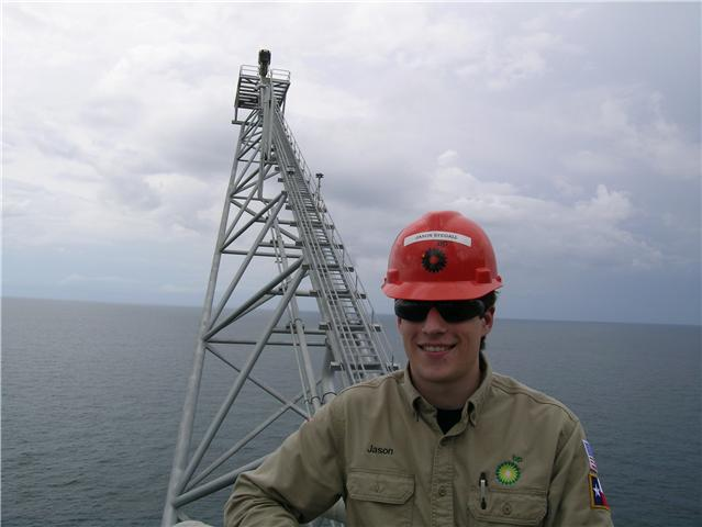 Jason Stegall interning at British Petroleum
