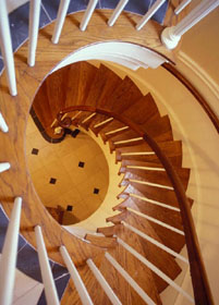 Perkins Chapel - Circular stairs