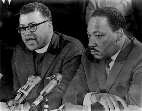Rev. James Lawson with Rev. Dr. Martin Luther King, Jr.